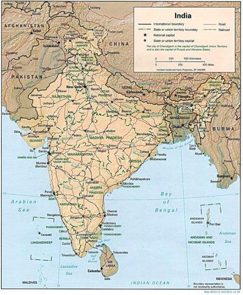 Cartina India.Cartina India Magio Bike Tour Il Giro Del Mondo In Bicicletta