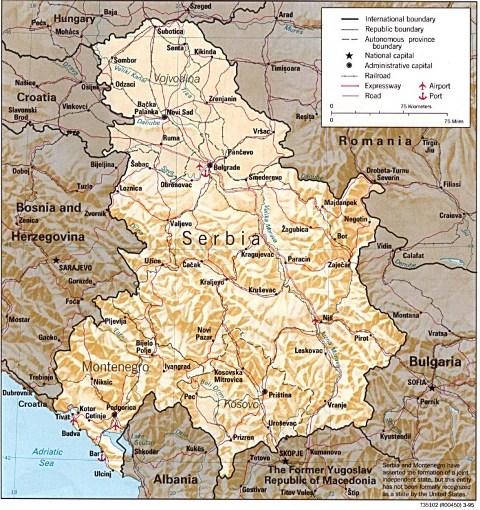 Serbia Cartina Pieterduisenberg